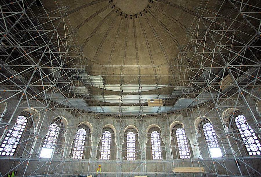 proyecto cúpula andamio catari con poncad