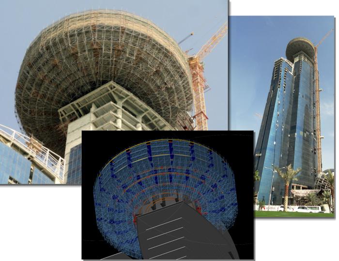 Pon Cad Proyecto Andamio Suspendido para el World Trade Center Doha