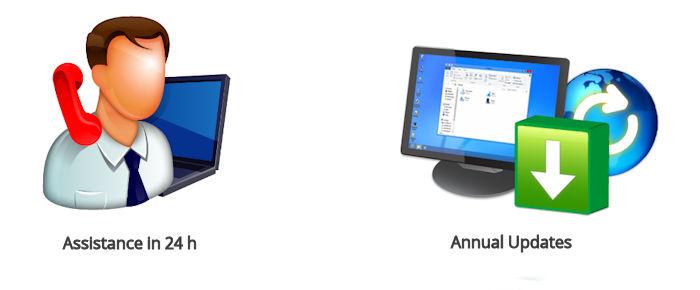 asistencia 24h y actualización software anual