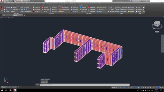For Cad desarrollo encofrados 3d