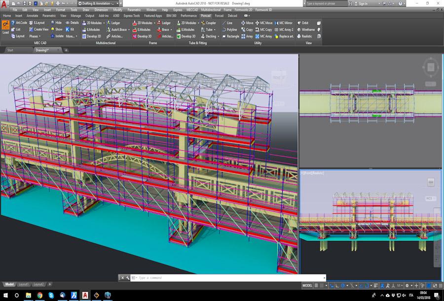 Pon Cad Proyecto Andamio para Mantenimiento Puente
