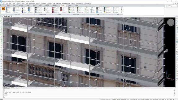diseñar andamio desde foto con Pon Cad