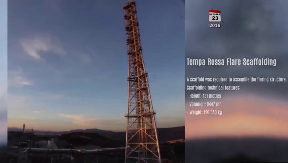 Pon cad video mantenimiento torre tempa rossa flare