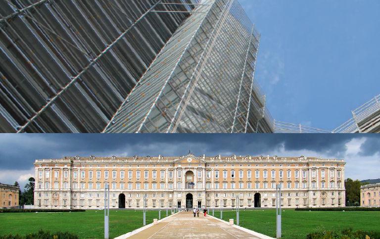 Pon Cad Andamio Restauración Palacio de Caserta Italia