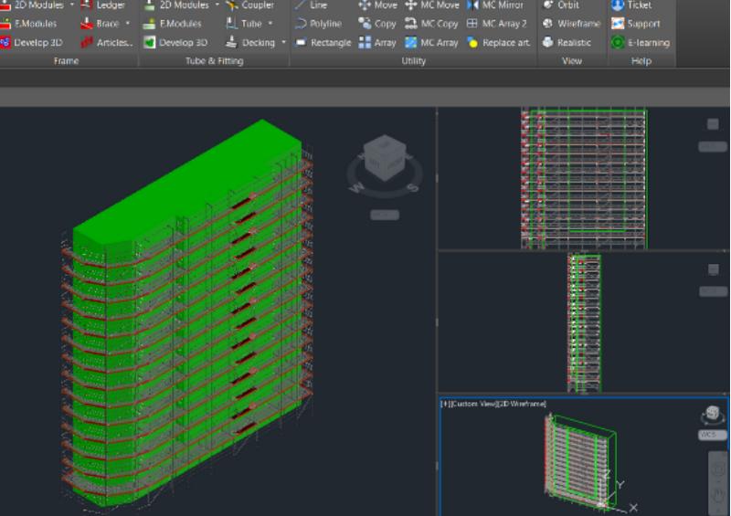 proyecto 3d diseño PON CAD